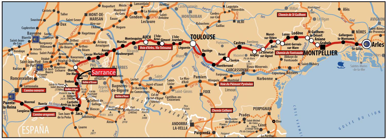 Voie d'Arles par le Monastère de Sarrance